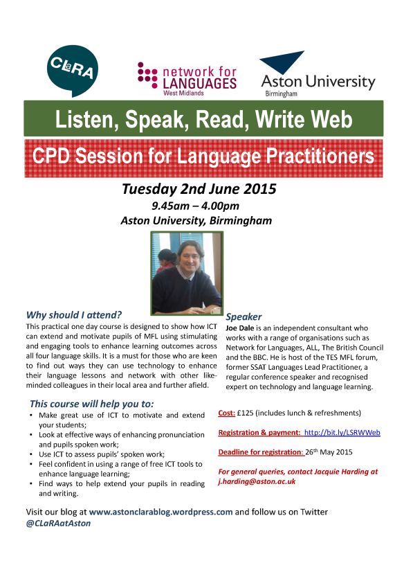 Poster_Listen Speak Read Write Web 2015 -